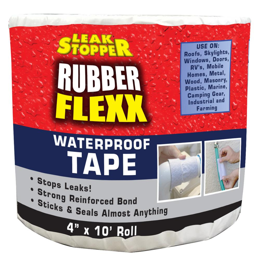 Rubber Flexx 4 in. x 10 ft. Waterproof Tape Barrier