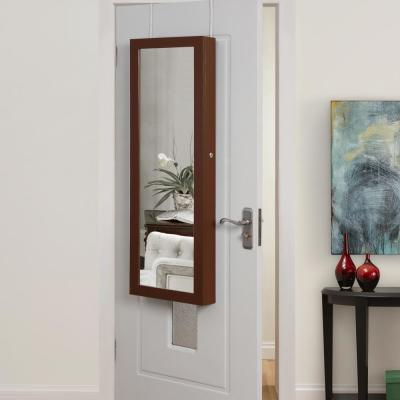 Amelia Brown Jewelry Furniture with Over-the-Door/Wall Mounted Full Length