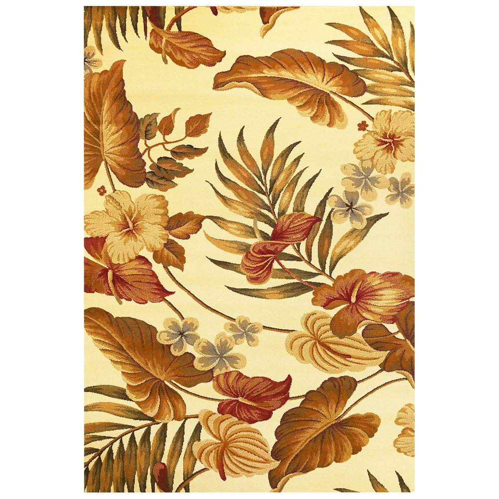 KAS Tropic Sun Ivory 7 ft. 10 in. x 9 ft. 10 in. Area Rug