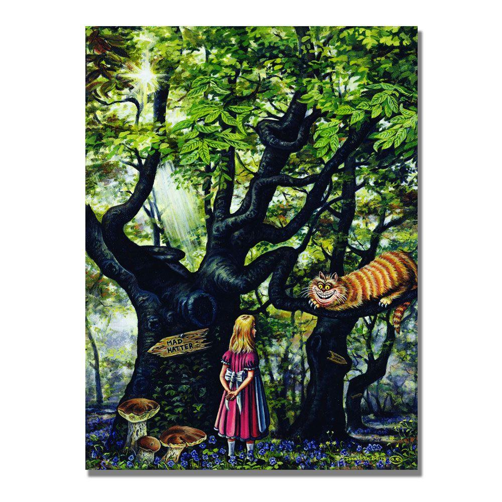 Trademark Fine Art 24 in. x 32 in. The Cheshire Cat, 2000 Canvas Art-DISCONTINUED