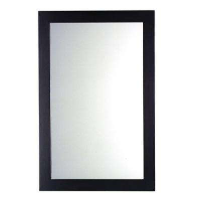 Cardiff 34 in. L x 22 in. W Rectangular Wall Mirror in Espresso