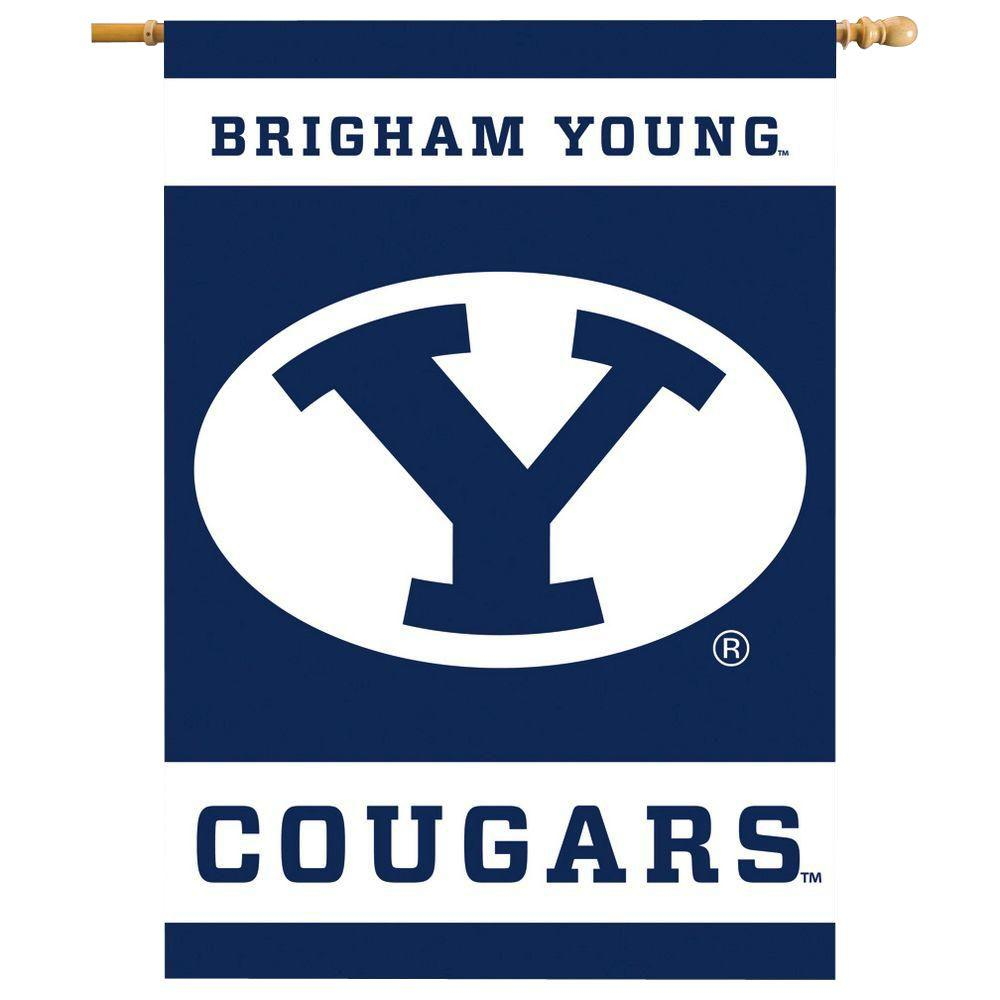 NCAA 28 in. x 40 in. Brigham Young 2-Sided Banner with