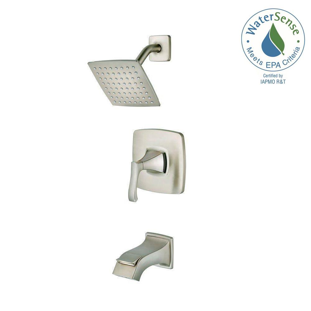 Venturi Single-Handle 1-Spray Tub and Shower Faucet in Brushed Nickel (Valve