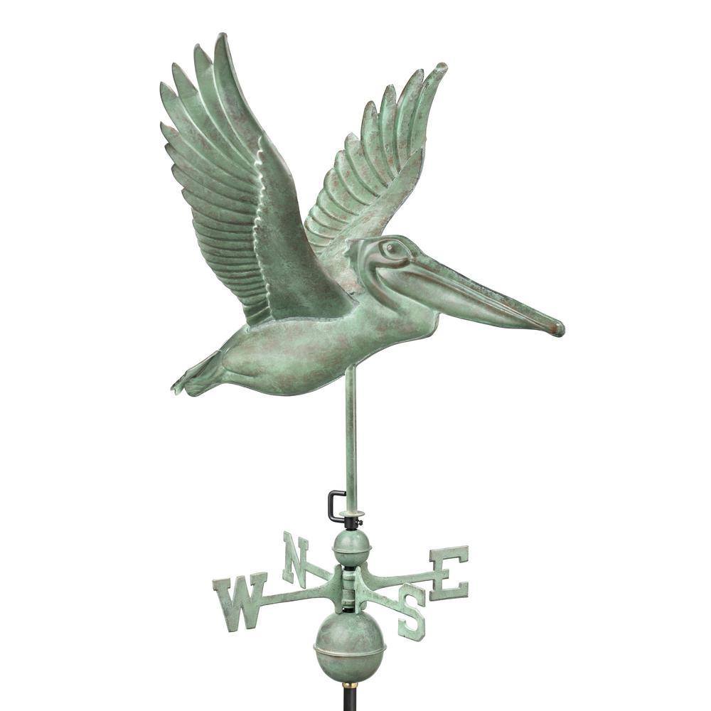 Pelican Weathervane - Blue Verde Copper