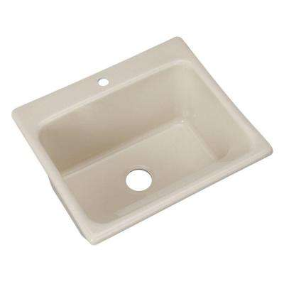 Kensington Drop-In Acrylic 25 in. 1-Hole Single Bowl Utility Sink in Natural