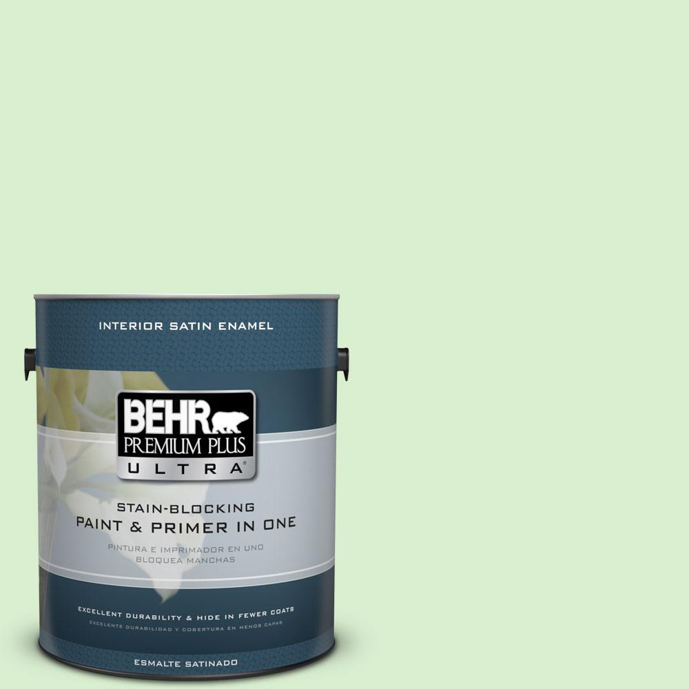 1-gal. #430A-2 Seafoam Spray Satin Enamel Interior Paint