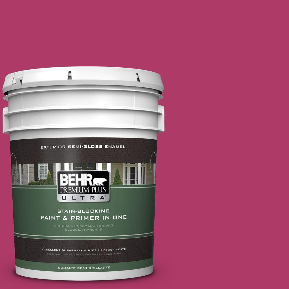 5 gal. #HDC-SM16-04 Bing Cherry Pie Semi-Gloss Enamel Exterior Paint