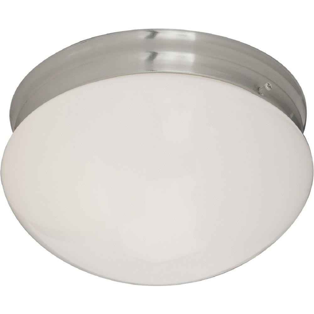 Maxim Lighting Essentials 2-Light Satin Nickel Flush Mount Maxim Lighting's commitment to both the residential lighting and the home building industries will assure you a product line focused on your lighting needs. With Maxim Lighting you will find quality product that is well designed, well priced and readily available.