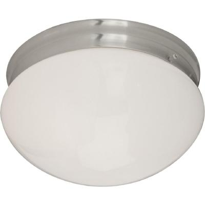 Essentials 2-Light Satin Nickel Flush Mount