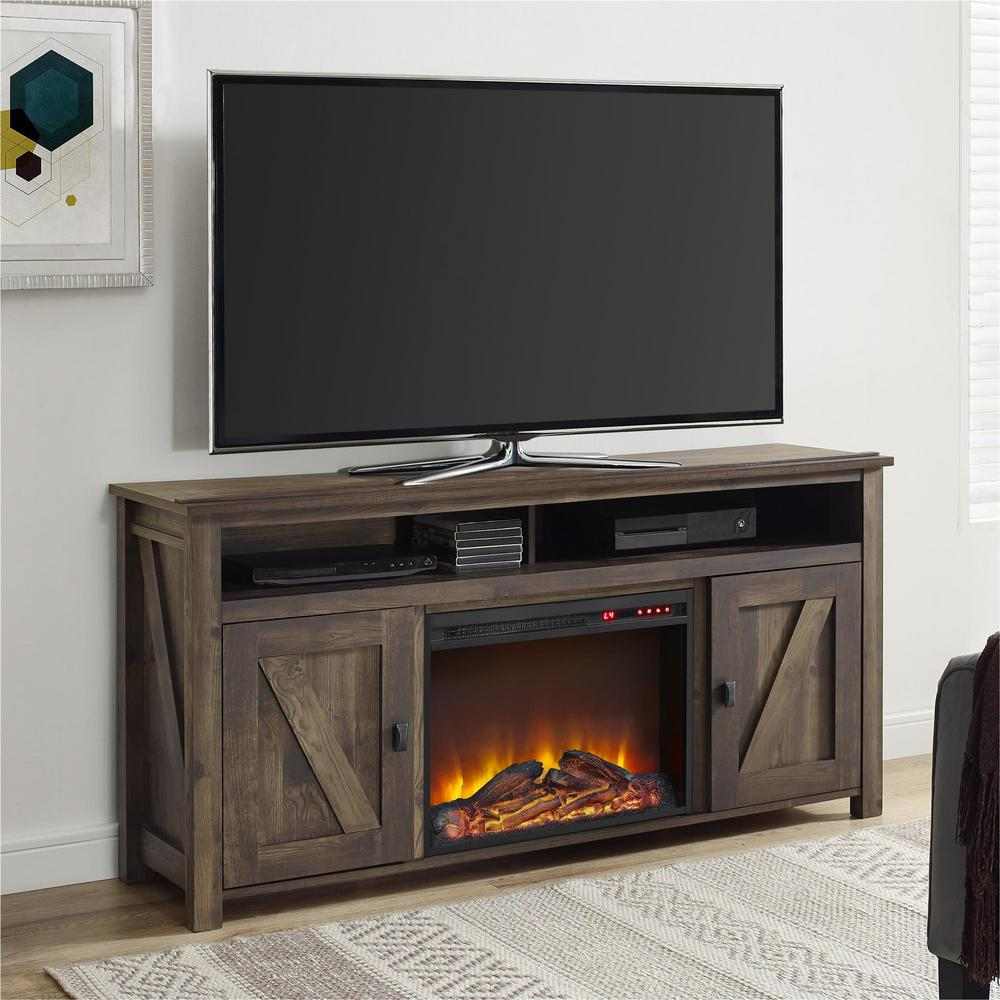 Deliver a glow to your home by choosing this gorgeous Ameriwood Farmington Heritage Pine Fire Place Entertainment Center.