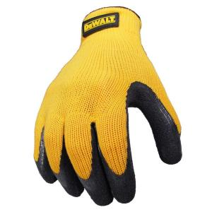 Textured Rubber Coated Gripper Glove -Large