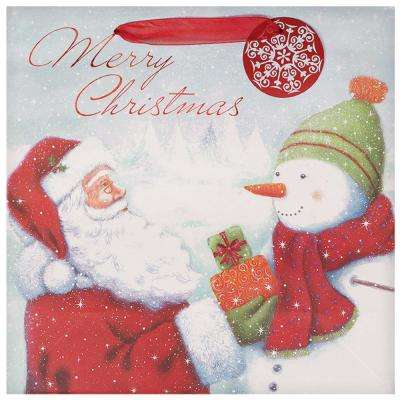 12 in. x 12 in. x 5 in. Traditional Santa Hot Stamped Bags (11-Pack)