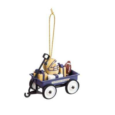 University of Washington 1-3/4 in. NCAA Team Wagon Christmas Ornament