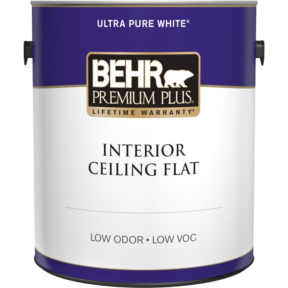 BEHR Premium Plus 1 gal. White Flat Ceiling Interior Paint