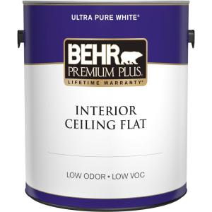 1 gal. White Flat Ceiling Interior Paint