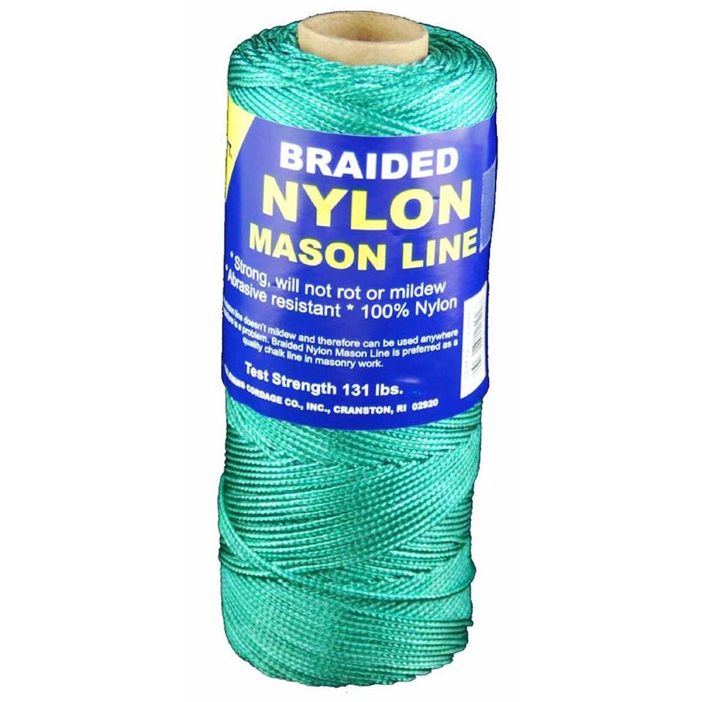 #1 x 500 ft. Braided Nylon Mason Line in Green