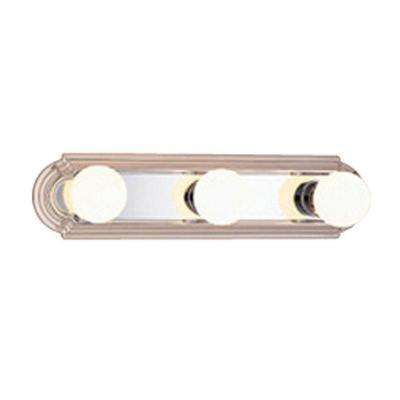 3-Light Chrome Bath Vanity Wall Mounted Light