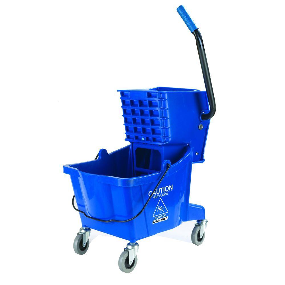 Carlisle 26 qt. Blue Mop Bucket/Wringer Combo by Carlisle