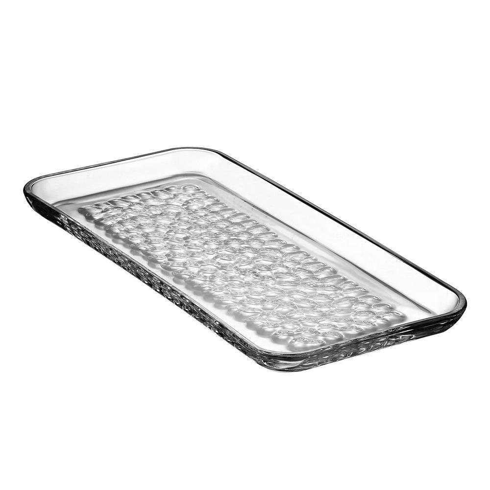 Pearl Rectangular Crystal Platter