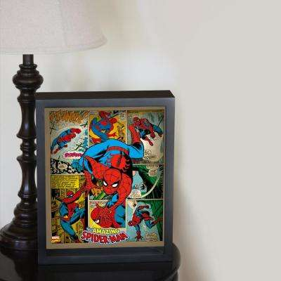 """9 in. x 11 in. """"Spider-Man - Panels"""" Framed 3D Wall Art"""