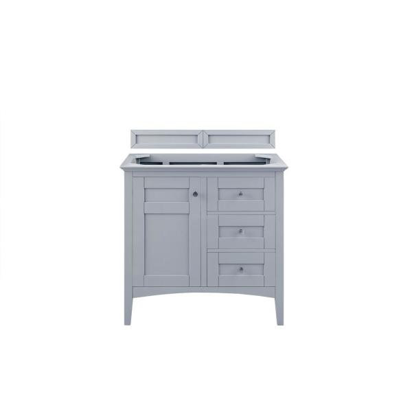 Palisades 36 in. W x 34 in. H Single Vanity Cabinet Only in Silver Gray with Satin Nickel Hardware