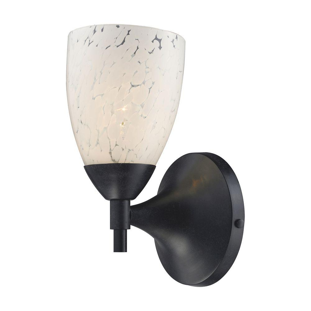 Titan Lighting Celina 1-Light Dark Rust Wall Mount Sconce