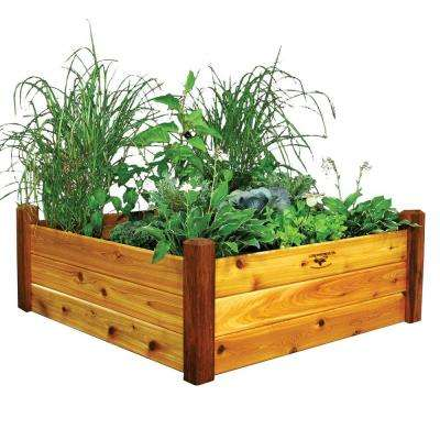 48 in. x 48 in. x 19 in. Safe Finish Raised Garden Bed