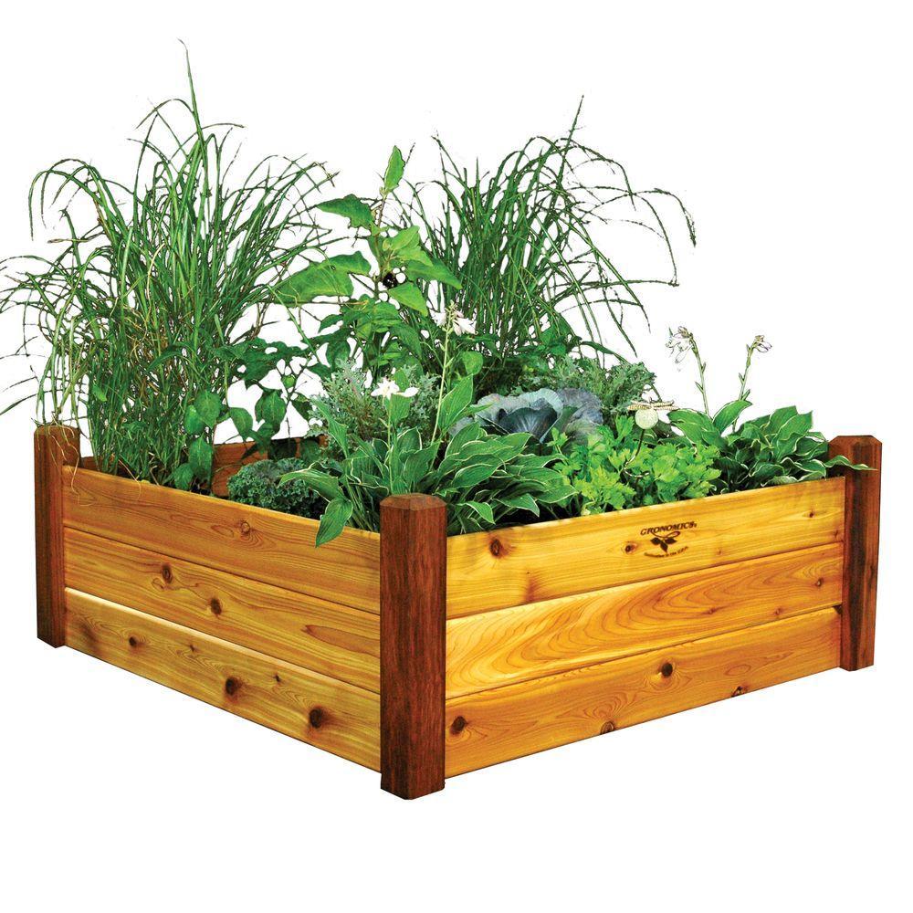 48 in. x 48 in. x 19 in. Safe Finish Raised Garden Bed