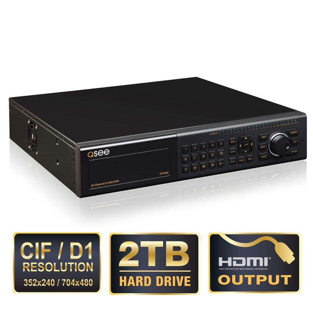 Q-SEE Elite Series Professional 32-Channel DVR with 2TB Hard Drive and Remote Viewing-DISCONTINUED