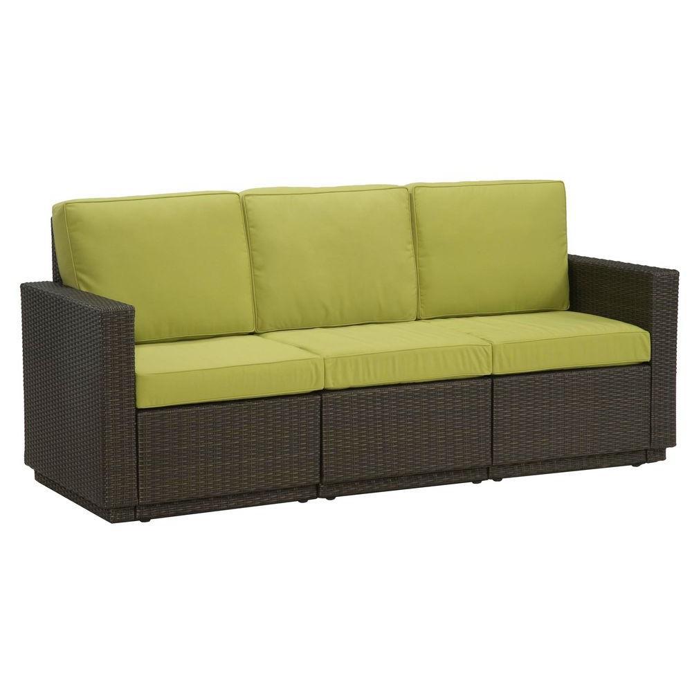 Home Styles Riviera Green Apple 3-Seat Patio Sofa