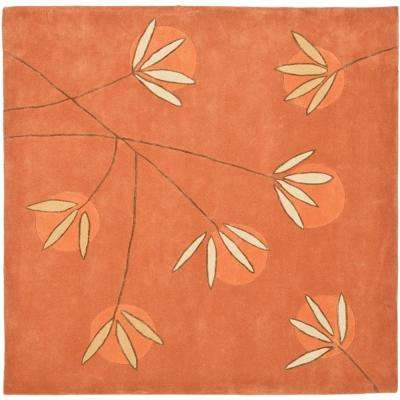 Soho Rust 6 ft. x 6 ft. Square Area Rug