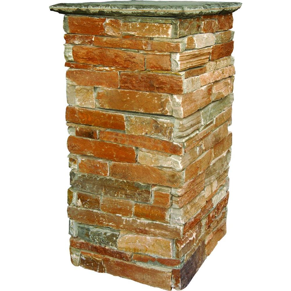 MS International 18 in. x 18 in. Natural Stone Column Kit with Cap-DISCONTINUED