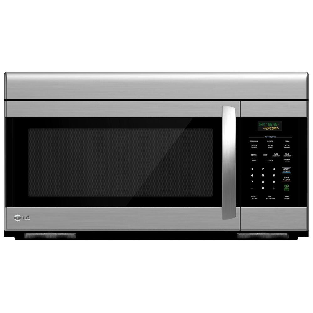 LG Electronics 1.6 cu. ft. Over the Range Microwave Oven in Stainless Steel