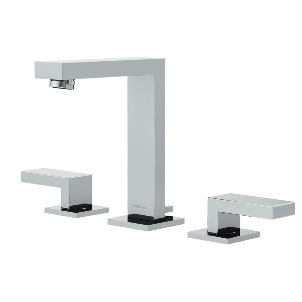 Symmons Duro 8 In. Widespread 2-Handle Bathroom Faucet With Lever Handles In Chrome-SLW-3612-H2