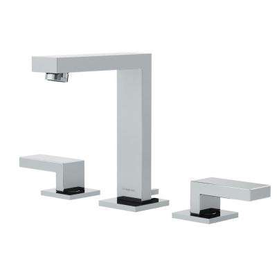 Duro 8 in. Widespread 2-Handle Bathroom Faucet with Lever Handles in Chrome