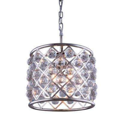 Madison 4-Light Polished Nickel Chandelier with Clear Crystal