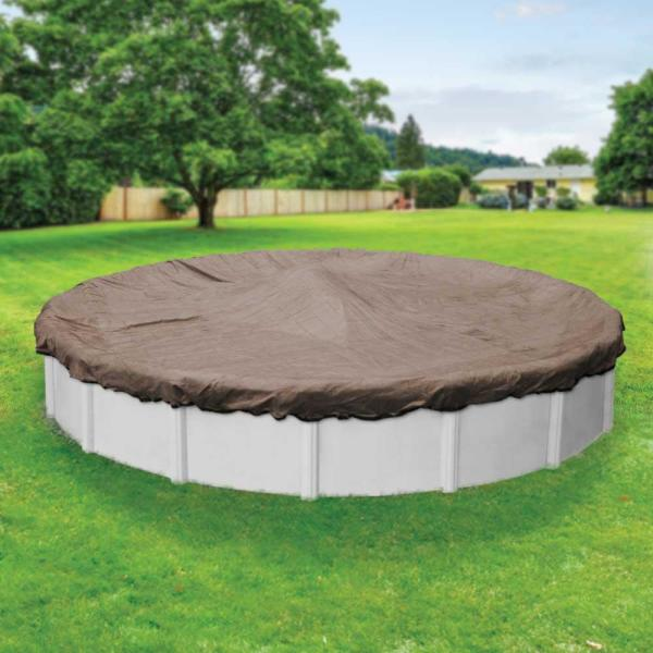 Premium Mesh XL 30 ft. Round Taupe and Black Mesh Above Ground Winter Pool Cover