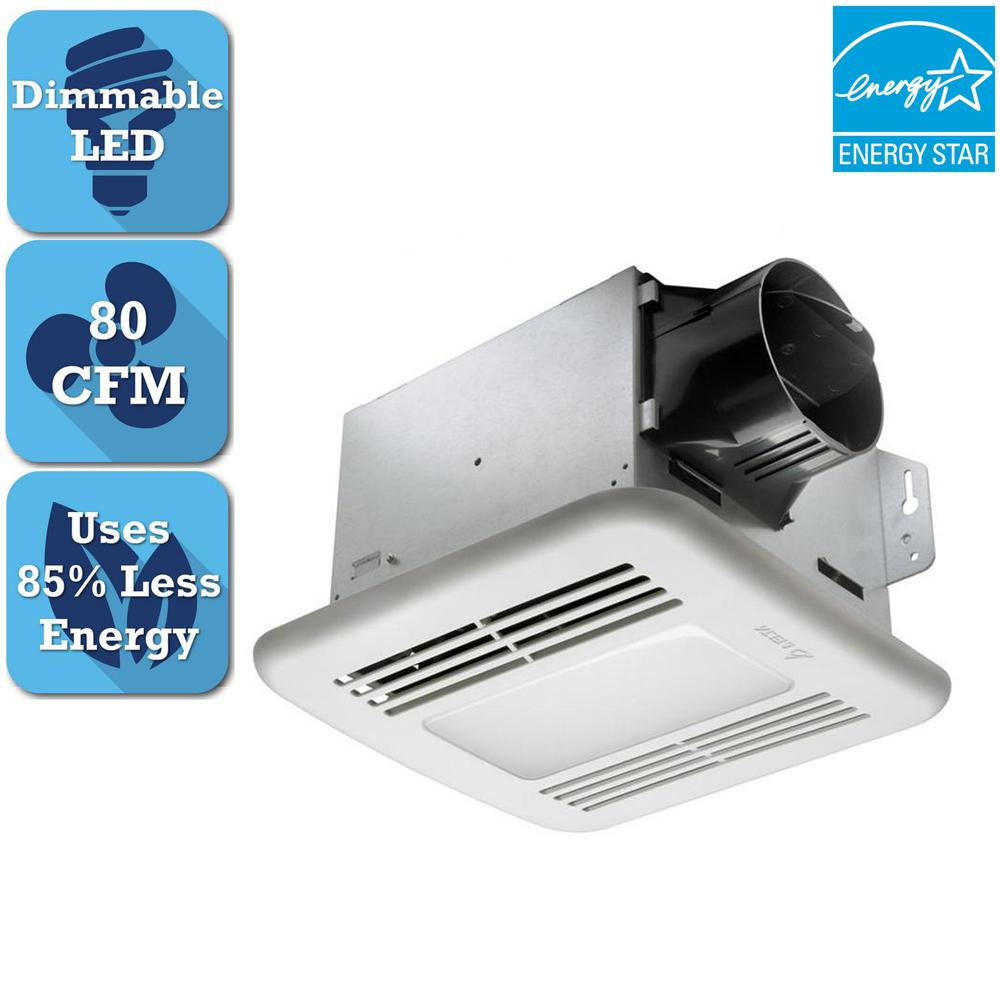 2 Bulb 80 Cfm Ceiling Bathroom Exhaust Fan With Light And: NuTone 70 CFM Ceiling Exhaust Fan With Recessed Light