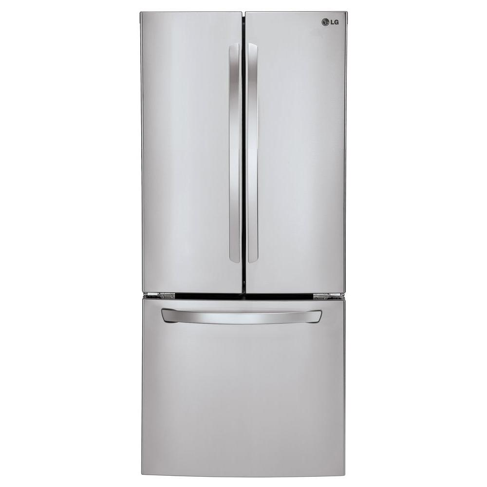 LG Electronics 30 In. W 21.8 Cu. Ft. French Door Refrigerator In Stainless