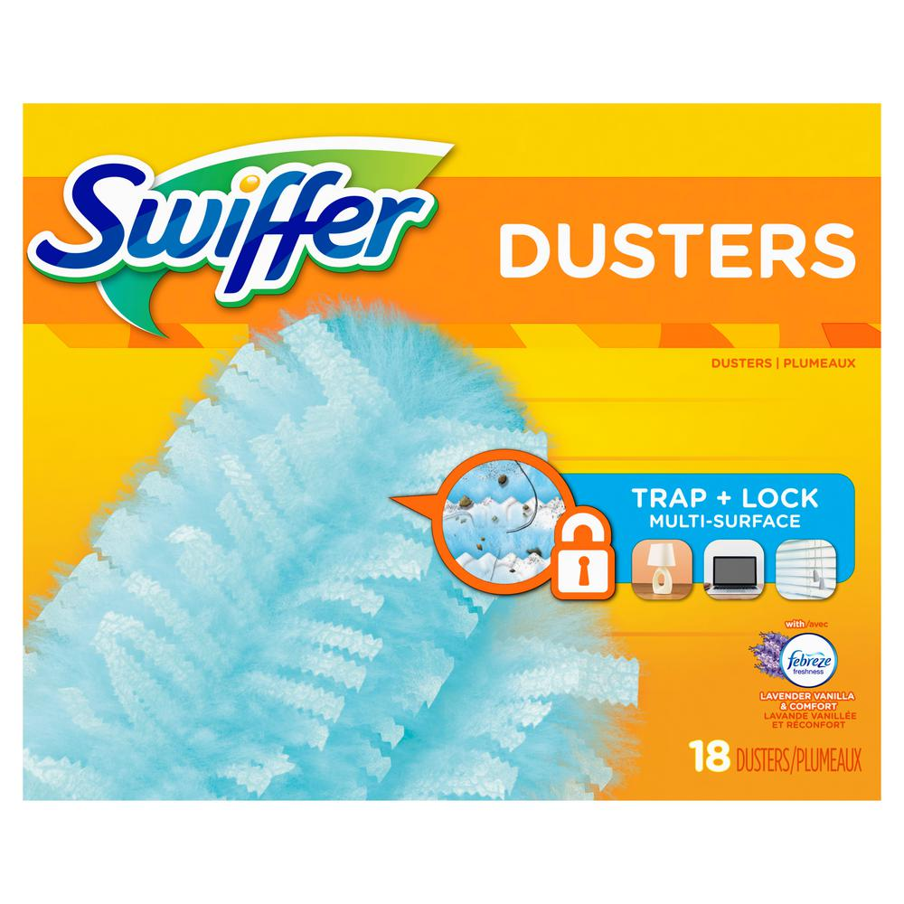 180 Duster Multi-Surface Refills with Febreze Lavender Vanilla and Comfort Scent