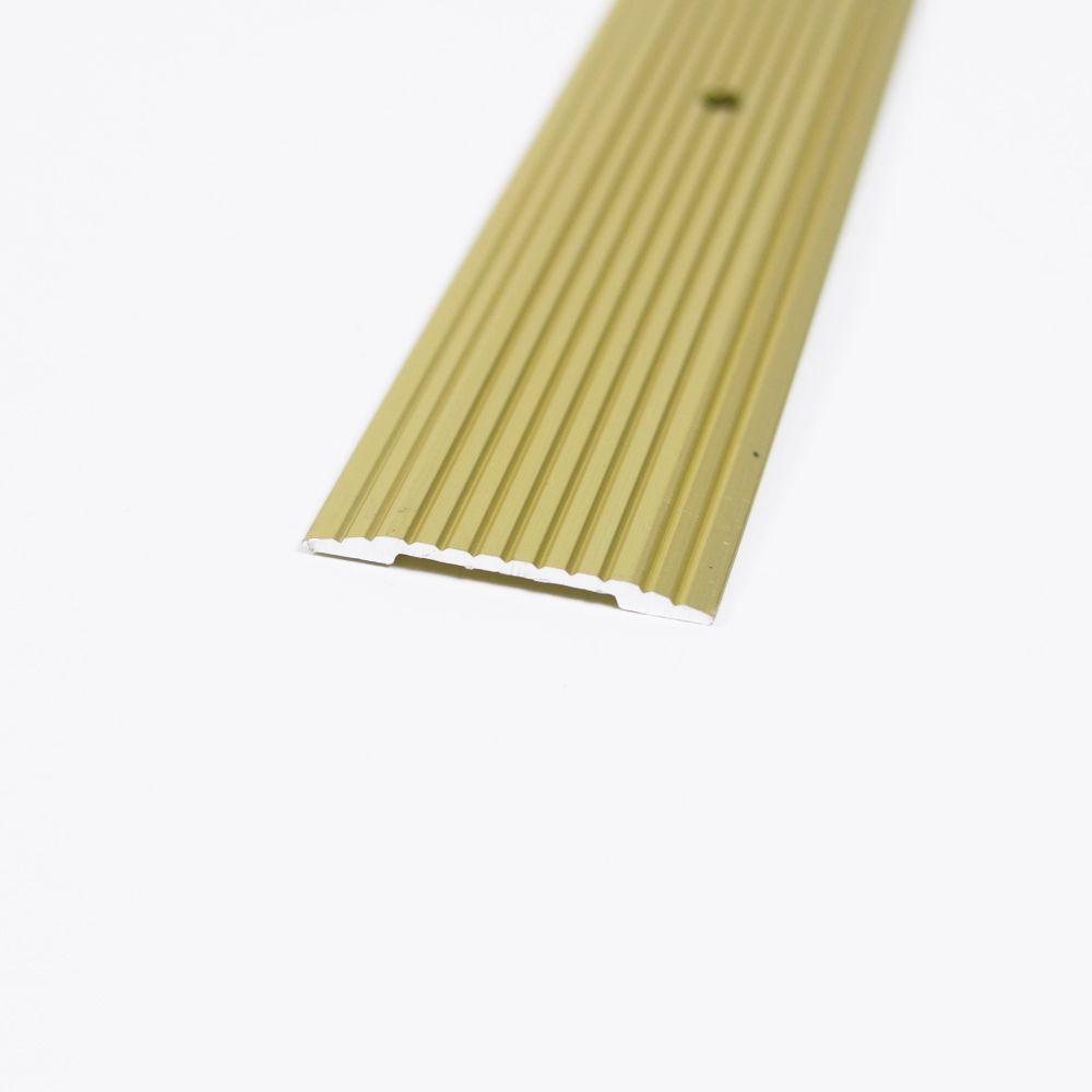 Satin Brass Fluted 72 in. x 1-1/4 in. Seam Binder