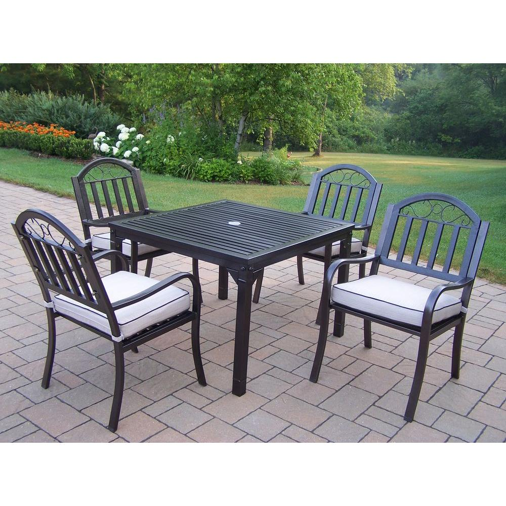 Living Home Patio Sets: Oakland Living Rochester 5-Piece Patio Dining Set With