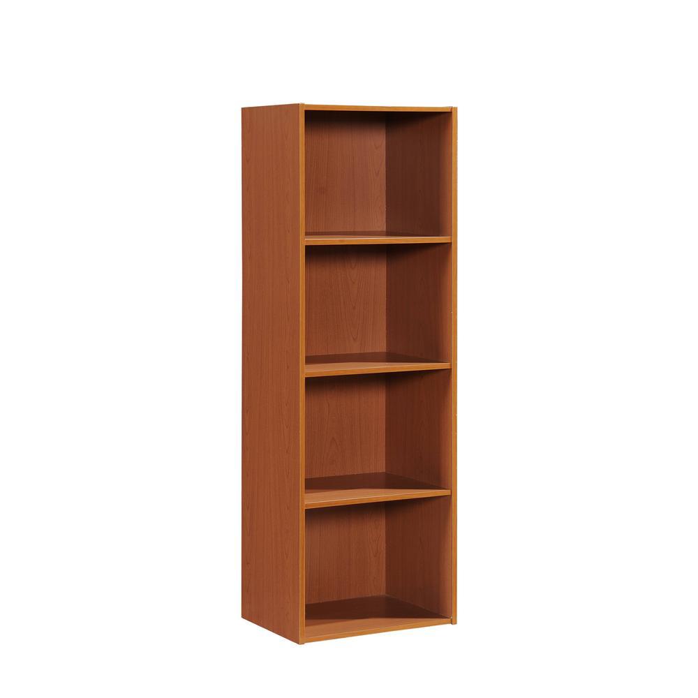 HODEDAH 4-Shelf, 47 in. H Cherry Bookcase HID24 CHERRY
