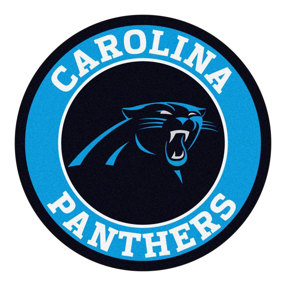 NFL Carolina Panthers Blue 2 ft. x 2 ft. Round Area Rug