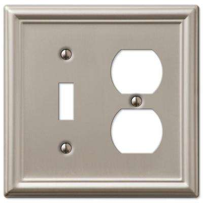 Chelsea 1 Toggle and 1 Duplex Wall Plate - Brushed Nickel