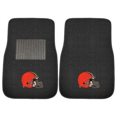 NFL - Cleveland Browns 17 in. x 25.5 in. 2-Piece Set of Embroidered Car Mat