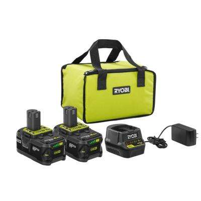 18-Volt ONE+ Lithium-Ion High Capacity 4.0 Ah Battery (2-Pack) Starter Kit with Charger and Bag