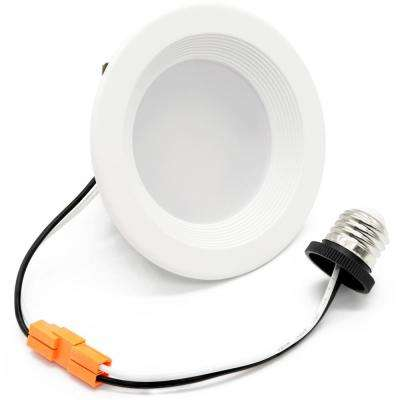 4 in. White Integrated LED Recessed Trim (4-Pack)