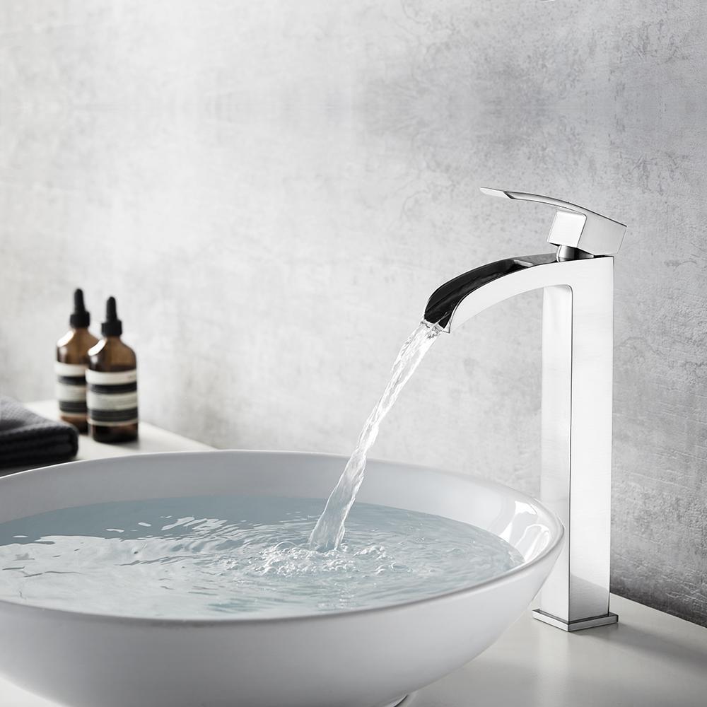Belair Single Hole Single-Handle Bathroom Faucet in Brushed Nickel