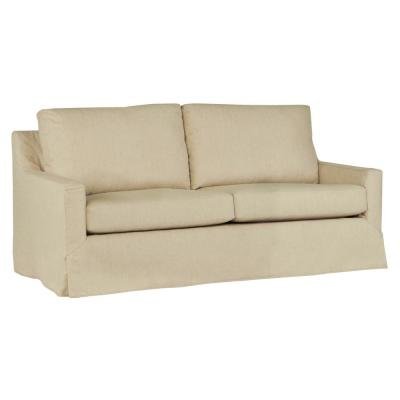 Sophie 80 in. Wheat Polyester 3-Seater Tuxedo Sofa with Square Arms